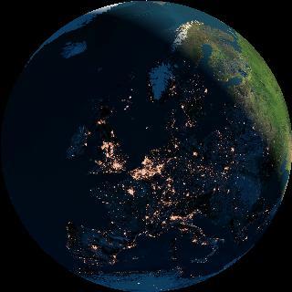 Europa om half vijf 's ochtends op vrijdag 16 april 2004