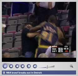 NBA brawl breaks out in Detroit