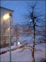 Sneeuw op Antwerpen Zuid
